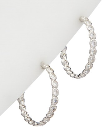 Alanna Bess Limited Collection Silver Cz Medium Hoops