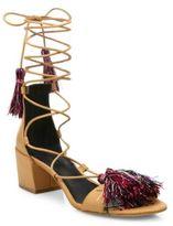 Rebecca Minkoff Isla Kid Leather Gladiator Sandals