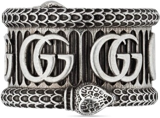 Gucci Silver ring with Double G