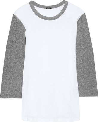 Monrow Two-tone Cotton-jersey Top