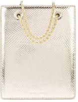 Loeffler Randall chain snakeskin effect tote bag