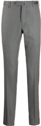 Pt01 High-Waisted Herringbone Trousers