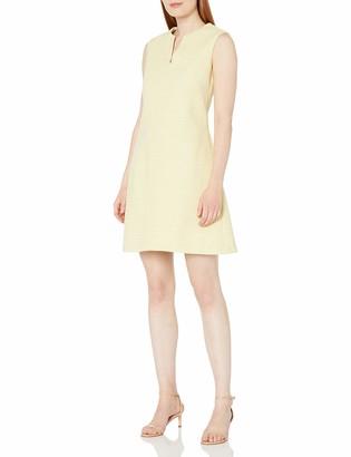 Helene Berman Women's Tweed V-Neck Shift Dress