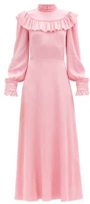 The Vampire's Wife The Firefly Ruffled Silk-blend Dress - Pink