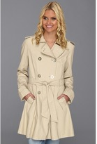 Jessica Simpson Double Breasted Fit-and-Flare Trench (Light Khaki) - Apparel
