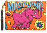 Moschino crowned elephant clutch - women - Polyester - One Size