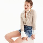 J.Crew Cotton Jackie cardigan sweater with tulle