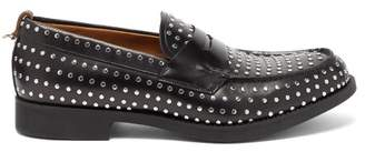 Burberry Emile Studded Leather Loafers - Mens - Black