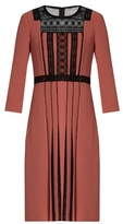 Bottega Veneta Lace-insert crepe dress