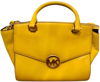 Michael Kors Yellow Leather Handbags