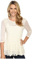 Scully Cambria Lace and Sheer Top