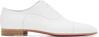 Christian Louboutin White Greggo Lace-up Derbys