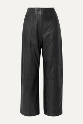 Jason Wu Leather Straight-leg Pants - Black