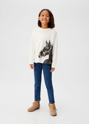 MANGO Frayed horse t-shirt