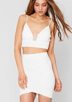 Missy Empire Maeve White Bandage Bodycon Mini Skirt
