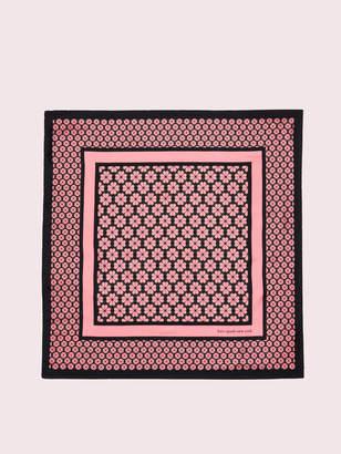 Kate Spade spade flower silk square