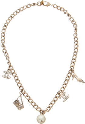 Chanel Gold-Tone Icon Charms Necklace