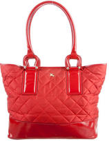 Burberry Leather-Trimmed Quilted Tote