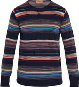 Missoni Crew-neck striped wool-blend henley top