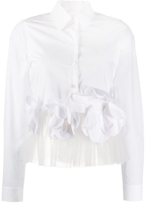 Viktor & Rolf Flower Power cropped shirt