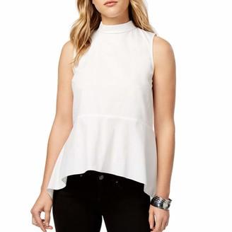 Kensie Women's Oxford Shirting Sleeveless Top