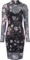 Jane Norman Printed Mesh Bodycon Dress