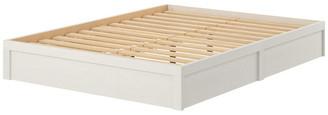 Ameriwood Home Full Platform Bed Frame, Vintage White
