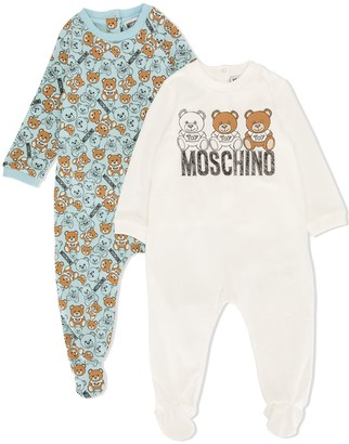 MOSCHINO BAMBINO Set Of 2 Teddy Bear Pyjamas