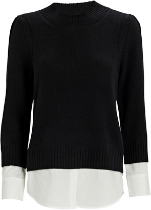 Brochu Walker Eton Layered Looker Crewneck Sweater