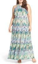 Eliza J Plus Size Women's Halter Maxi Dress