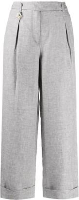Lorena Antoniazzi Wide-Leg Cropped Trousers
