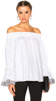 Alexander McQueen Embroidered Top in White.