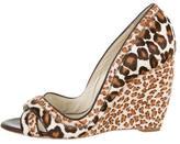 Rupert Sanderson Ponyhair Leopard Wedges