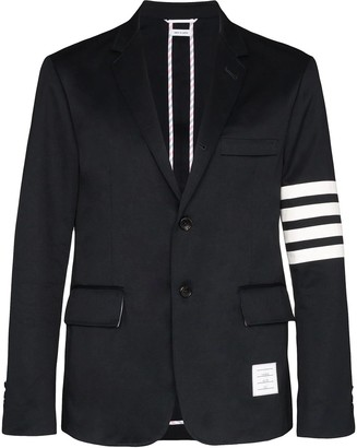 Thom Browne Cotton 4-bar Unconstructed Sport Coat Navy