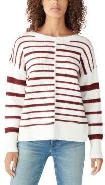 Lucky Brand Textured Stripe Crewneck Sweater