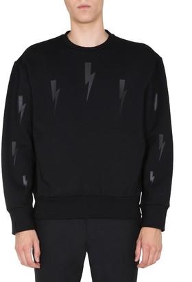 Neil Barrett Thunderbolt Printed Sweatshirt