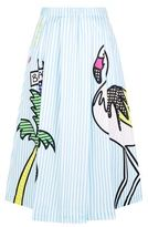 Mira Mikati Flamingo Striped Skirt