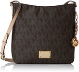 Michael Kors Women's Jet Set Travel Logo Large Messenger Leather Messenger Bag Satchel