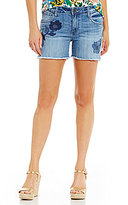 KUT from the Kloth Gidget Floral Embroidered Frayed Hem Shorts