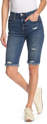 Frame Le Vintage Distressed Bermuda Shorts