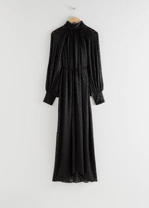 And other stories Silk Blend Maxi Leopard Dress