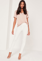 Missguided Mid Rise Skinny Jean White