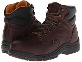 Timberland TiTAN(r) Waterproof 6 Alloy Safety Toe (Dark Mocha Full-Grain Leather) Men's Work Lace-up Boots