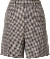 Maison Margiela high-waisted plaid shorts