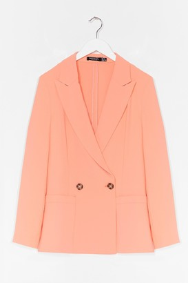 Nasty Gal Womens Suits You Tailored Double Breasted Blazer - Apricot