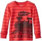 Toddler Boy Jumping Beans® Striped Thermal Graphic Long Sleeve Tee