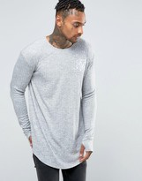 SikSilk Ribbed Long Sleeve T-Shirt