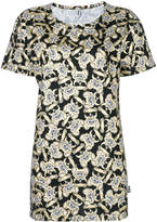 Moschino metallic print oversized T-shirt