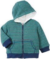 Kapital K Stripe Thermal Zip-Up Hoodie (Baby) - Pine-24 Months