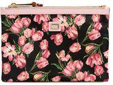 Dolce & Gabbana Tulips Printed Nylon Pouch